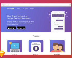Chat App Landing Page