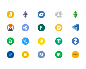 Cryptocurrencies Logos