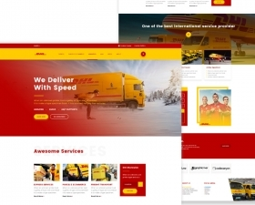 DHL Homepage Redesign