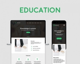 Education – Template for Adobe XD and Photoshop