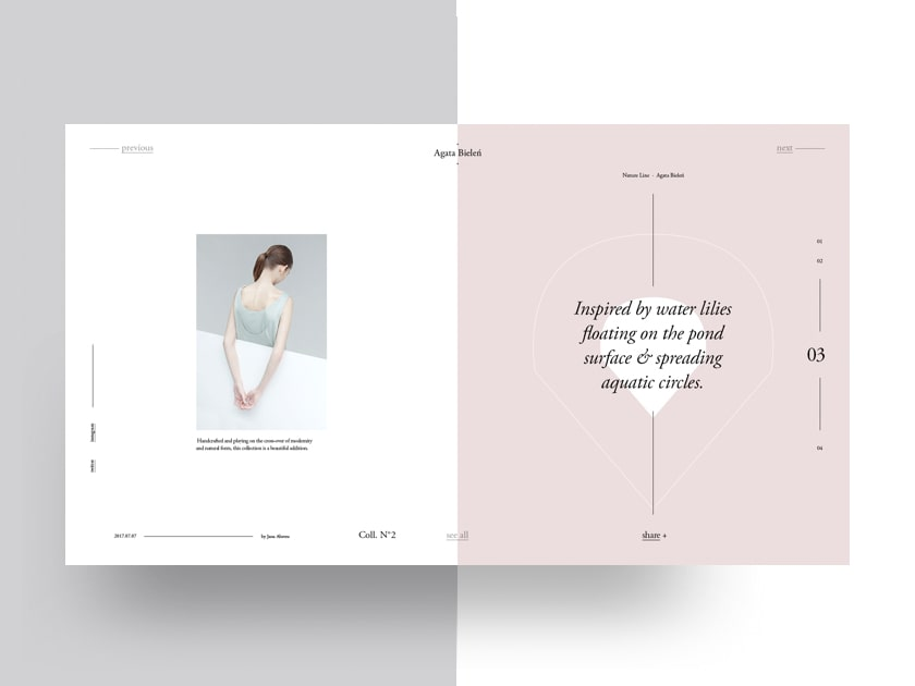 Agata Bieleń Free Fashion Magazine Template