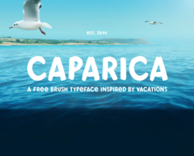 Caparica Free Brush Typeface