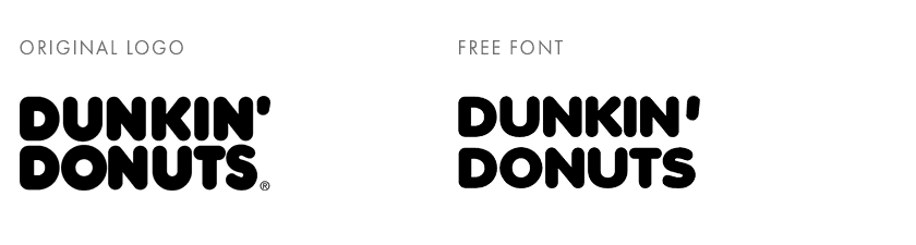 Dunkin' Donuts free font