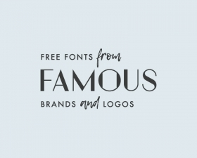 24 Fonts from famous brands and logos [Free]