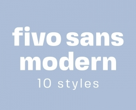 Fivo Sans Modern – Free Display Font Family