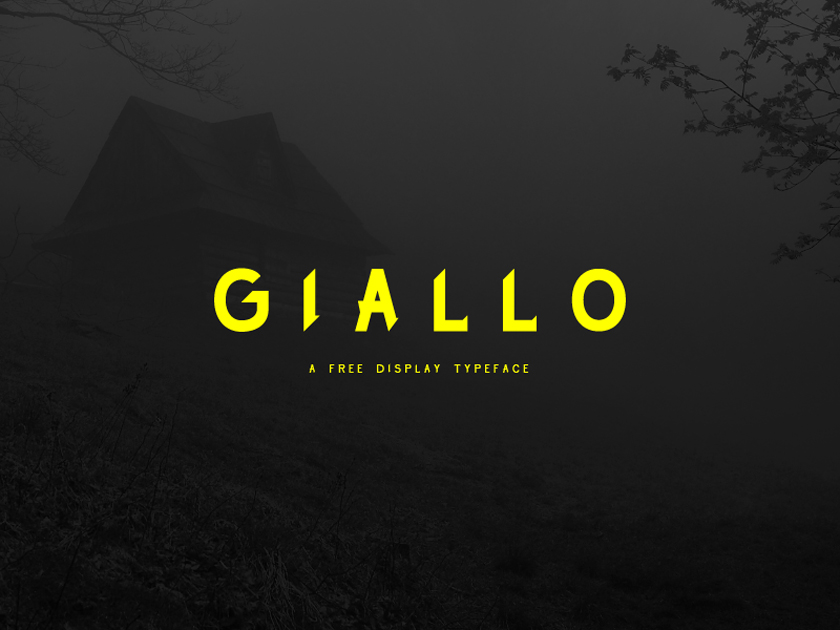 Giallo Free Display Typeface