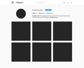 Instagram Profile Mockup 2017 – Mac OS fonts
