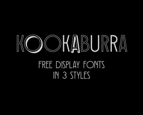 Kookaburra – free display font family