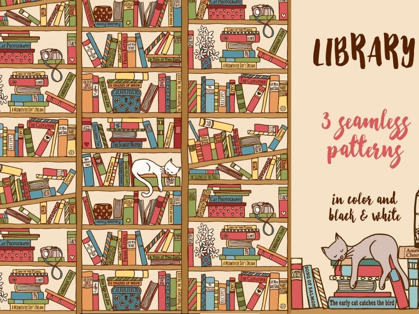 Library - 3 seamless patterns