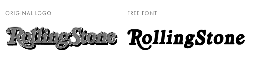 Rolling Stone free font