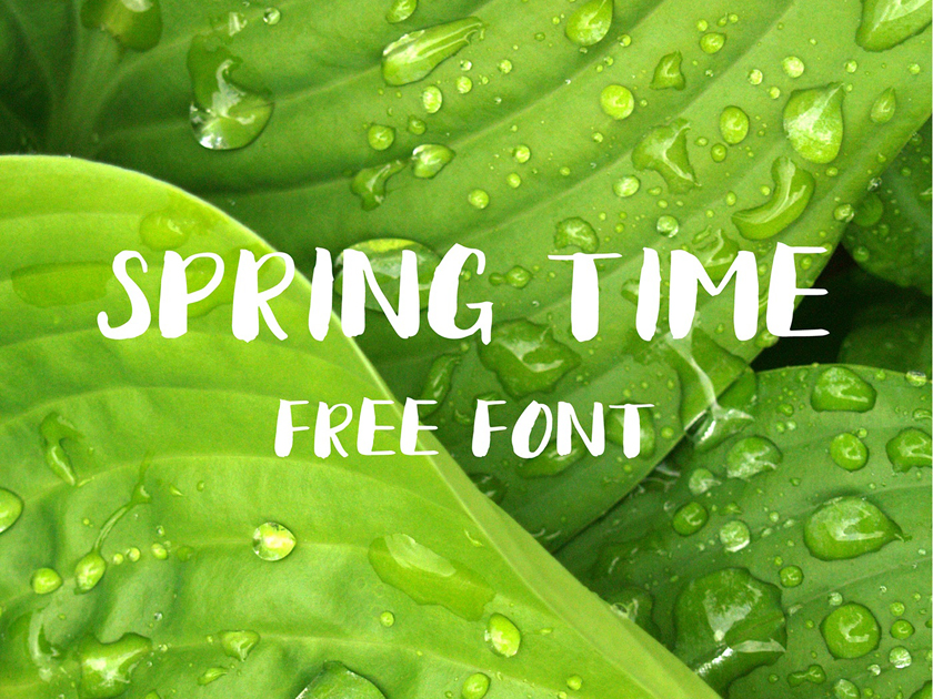 Spring Time Free Font