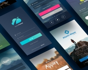 10 Free Material Design Login Screens
