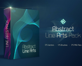 Free Abstract Line Arts Pack