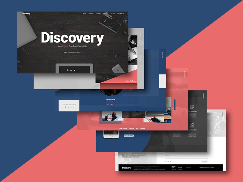 Discovery – Multipurpose One Page Template
