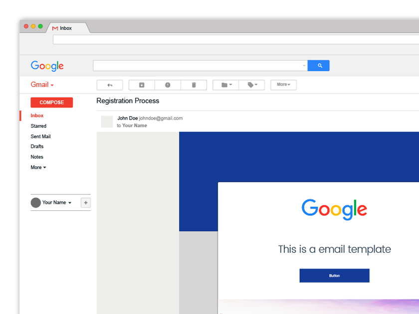 Free GMail Mockup - Fluxes Freebies