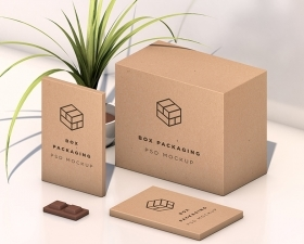 Isometric Box Packaging Mockup