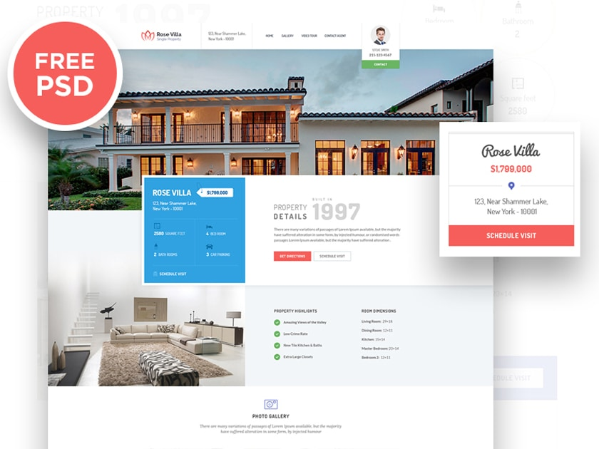 Rose Villa Real Estate Landing Page