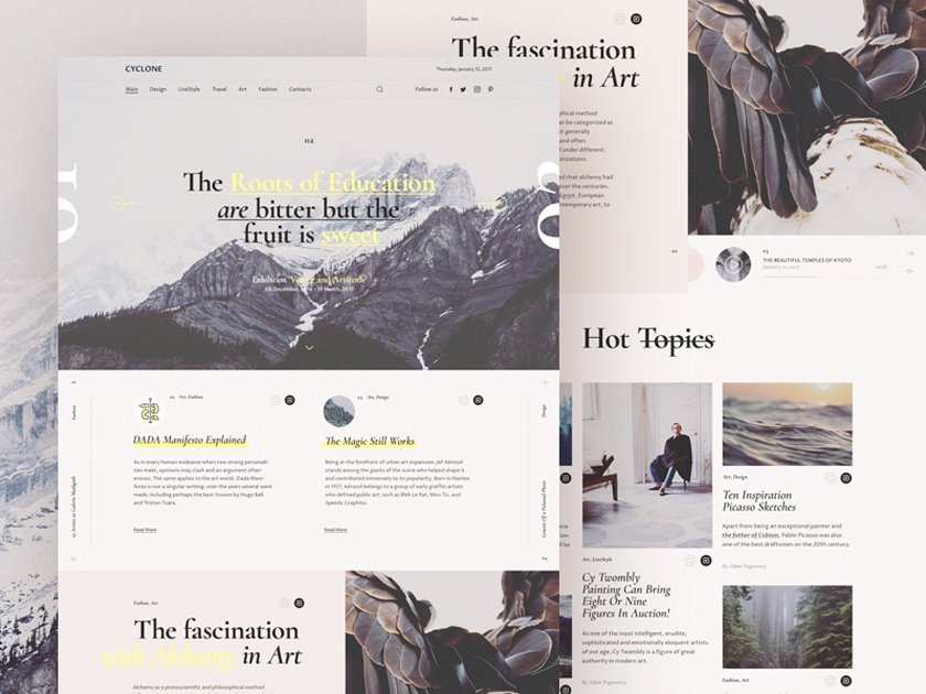 Cyclone Free Magazine Template - Fluxes Freebies