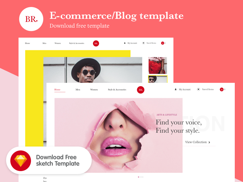 eCommerce / Blog template