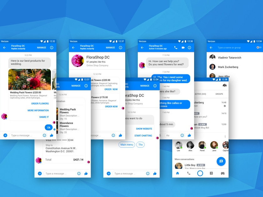 Facebook Messenger UI for Bot Development