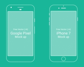 Google Pixel and iPhone 7 Mockups