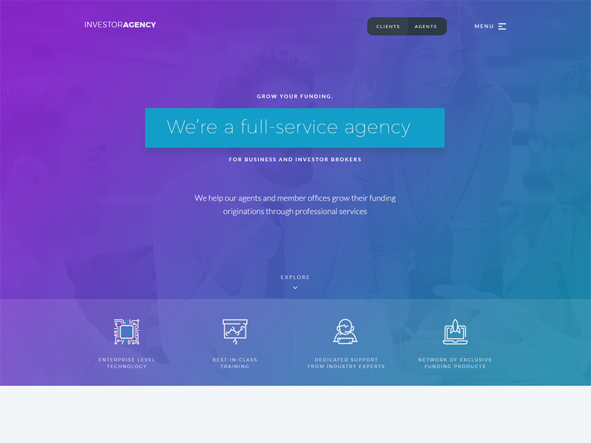 Investor Agency Landing Page