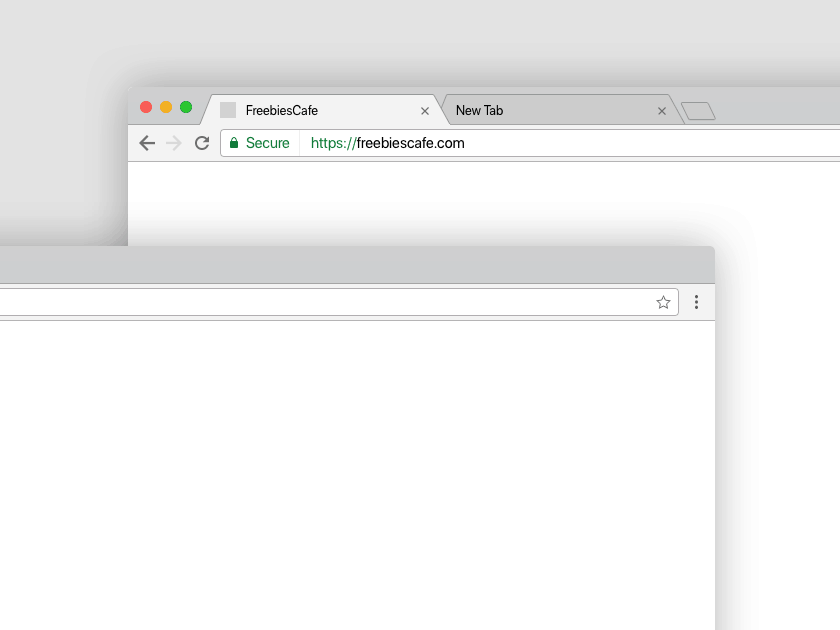Mac OS Chrome Browser Mockup