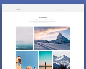 Explorer – Photography HTML Template