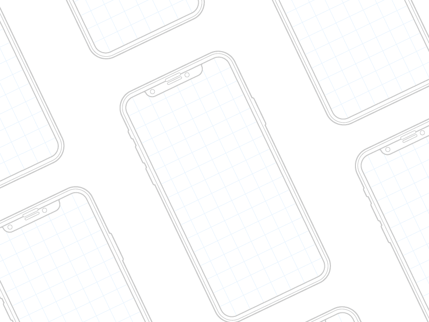 iPhone X Wireframe & Mockup