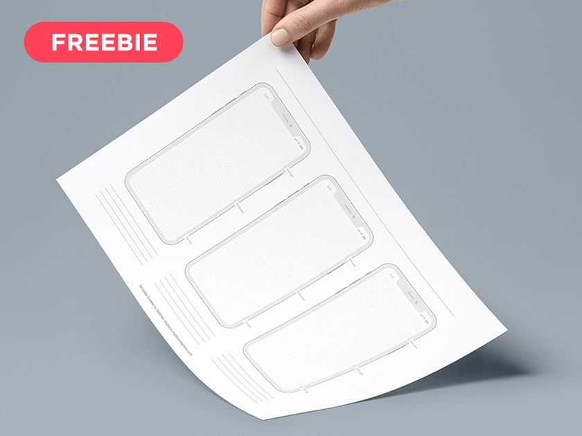 Printable iPhone X Wireframes