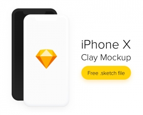 Free iPhone X Clay Mockup