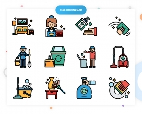 50 Free Cleaning Icons