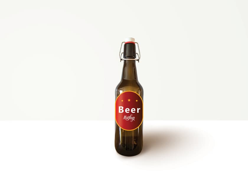 Craft Beer Bottle PSD Mockup