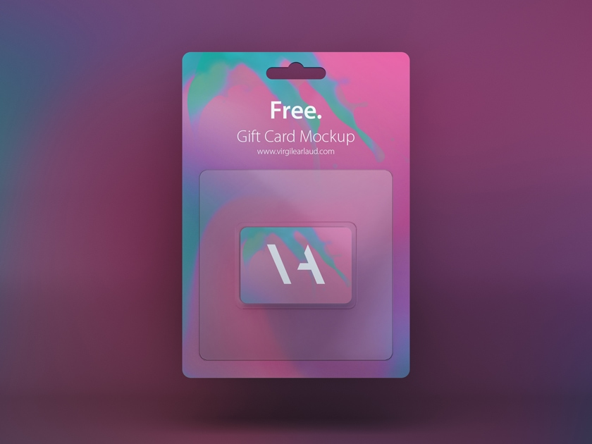free gift card mockup fluxes freebies