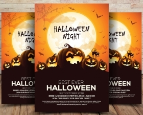 Free Halloween Flyer PSD Template