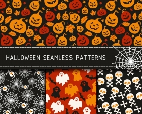 Free Halloween Seamless Patterns