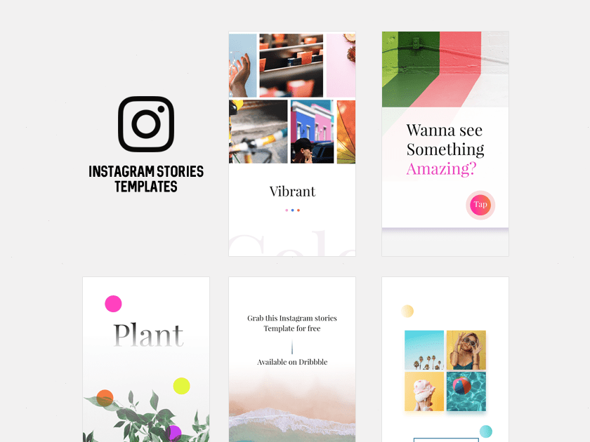 Free Instagram Stories Templates Fluxes Freebies