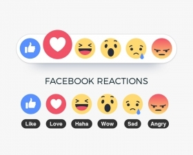 Free Facebook Reactions Emoji Icons