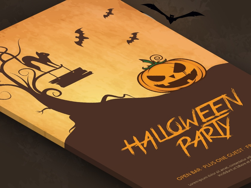 Free PSD Halloween Party Flyer