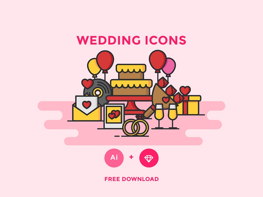 Free Wedding Icons