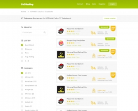 Food Ordering Website – Search Page Template