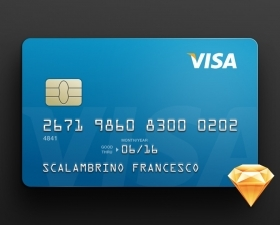 Visa Card Sketch Mockup