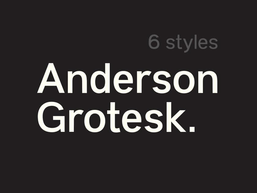 Anderson Grotesk Free Font Family - Fluxes Freebies