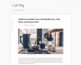 Cafe Blog – free WordPress theme by FreebiesCafe
