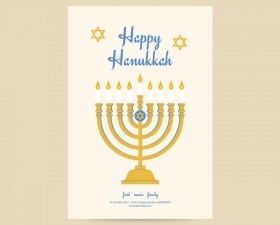 Free Happy Hanukkah Flyer