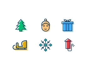 Winter Holidays Icon Set