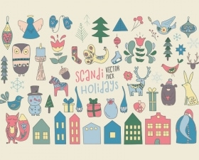 Scandinavian Christmas Vector Pack