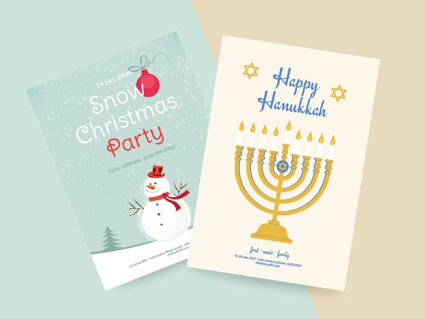 12+ Best Christmas and Hanukkah Graphic Design Freebies 2017