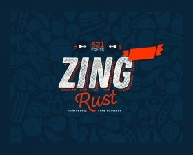 Zing Rust™ Free Fonts