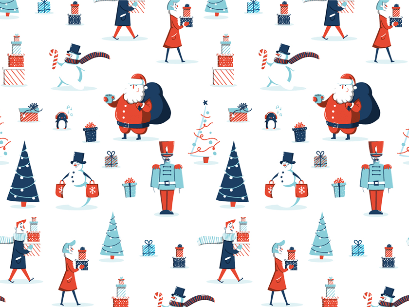 Free Christmas Patterns and Wrapping Paper Collection
